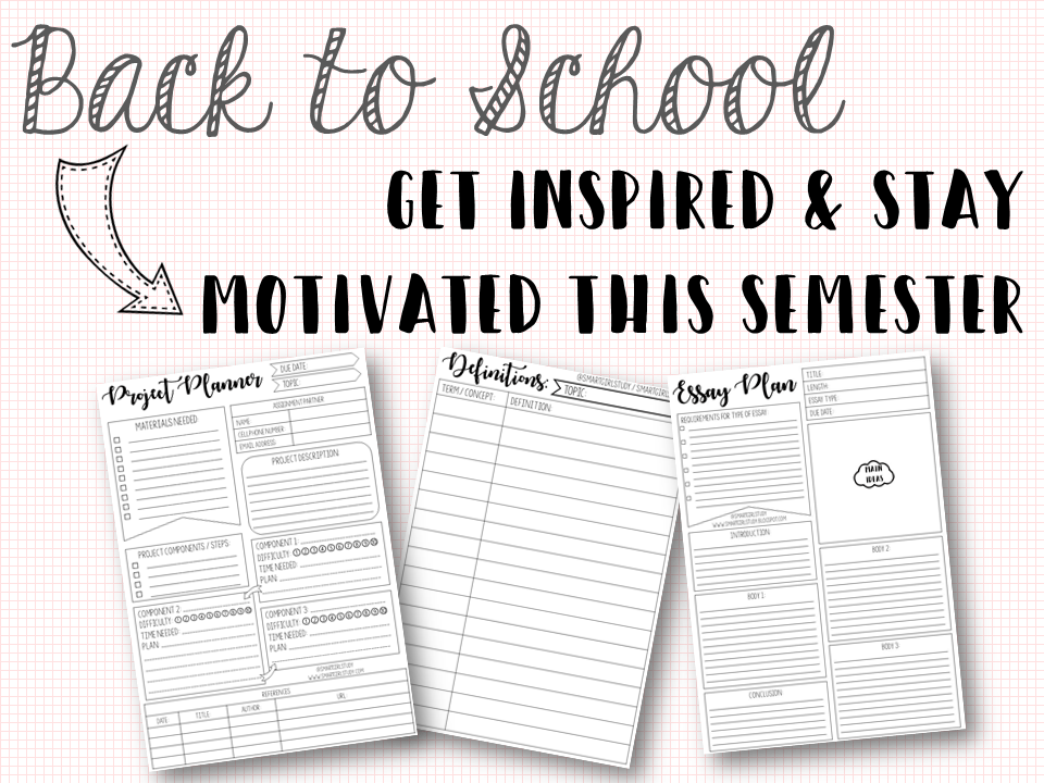 Back to School: Get Inspired & Stay Motivated this Semester