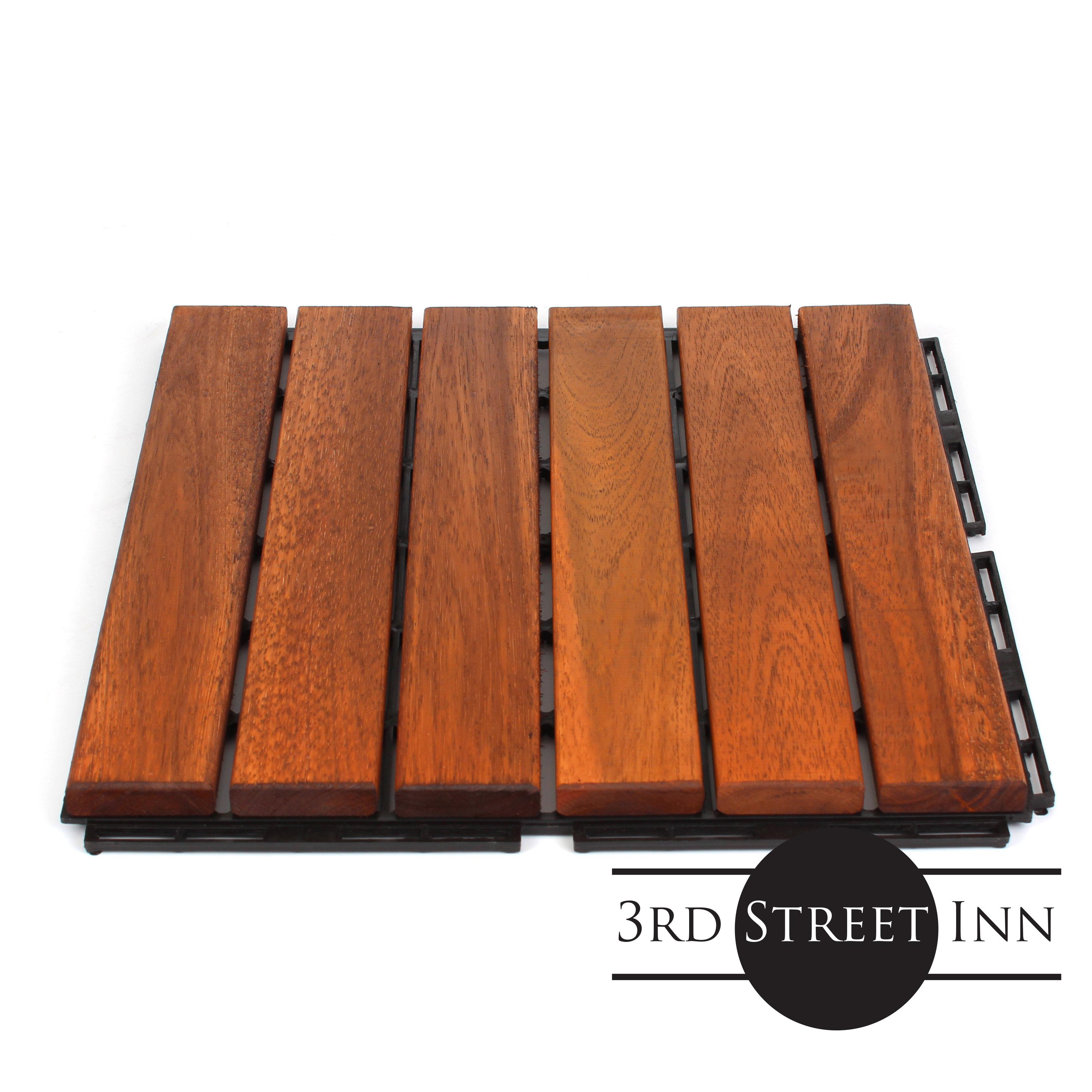 oiled acacia straight deck tiles