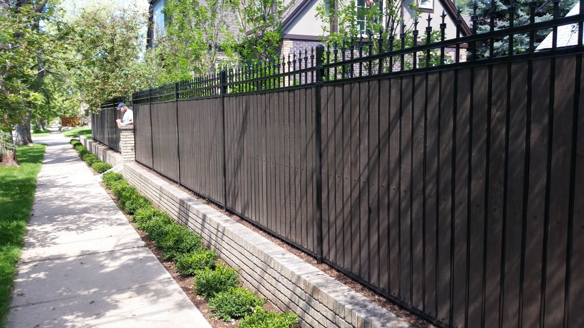 Image Result For Wood And Metal Fence