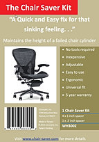 office chair sinking cover hire edinburgh a quick and easy fix for your