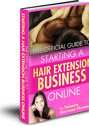 start a hair extension business online