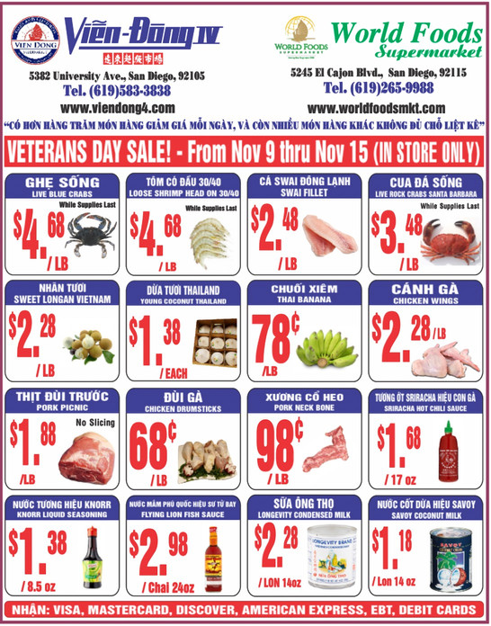 Vien S Dong 4 Supermarket Weekly Ad Hope To See You Soon