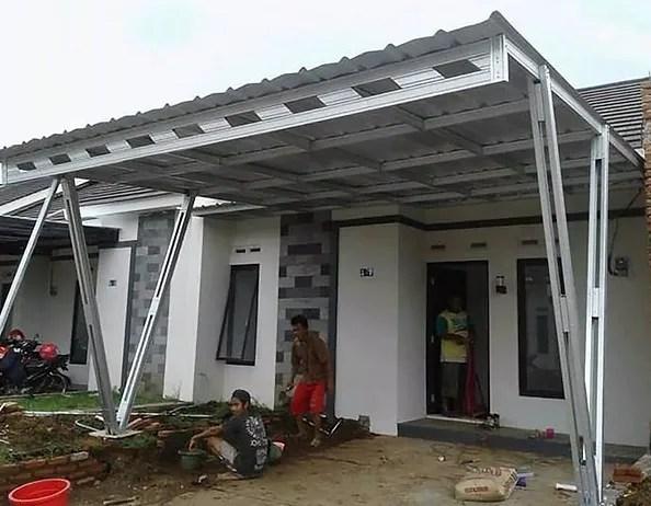 harga kanopi baja ringan per meter jasa pasang pekanbaru bukit raya