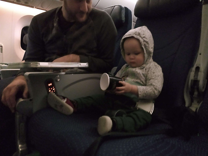 Extra free plane seat for a toddler