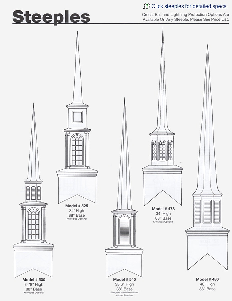 Church Steeples Customized for Your Place of Worship