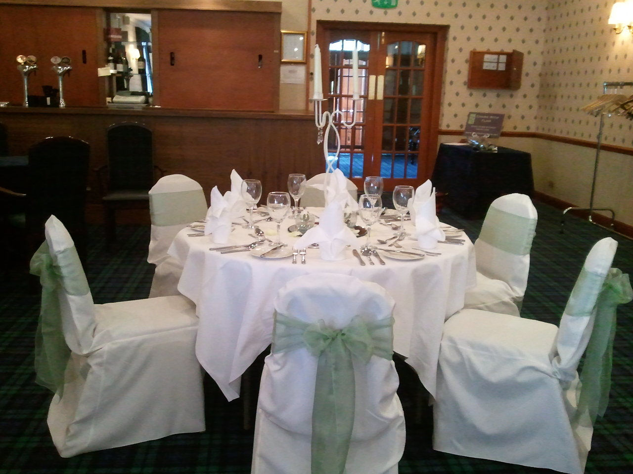 chair cover and sash hire glasgow turquoise wingback slipcover chairs with flair wedding events planning