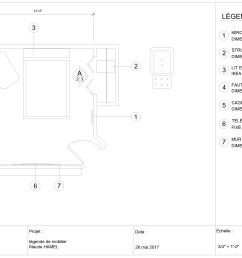 bedroom autocad 1 [ 4983 x 3141 Pixel ]