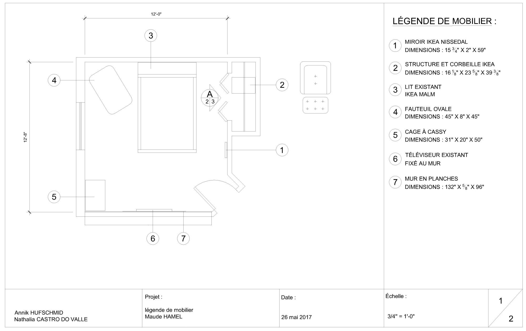 hight resolution of bedroom autocad 1