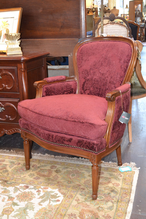 hickory chair co beach chairs singapore french louis xv damask with nailhead detail showroom model retail price 2 688 26 x 36