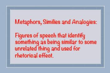 storytelling metaphors, analogies, figures of speech at Storylab