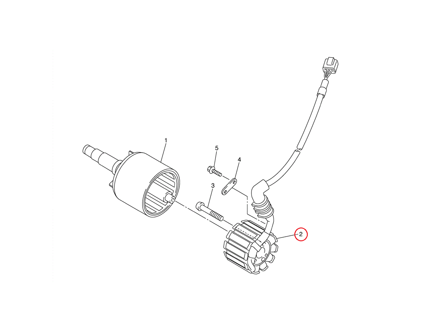 Yamaha YZF-R1 Stator Coil / Magneto / Alternator 2004