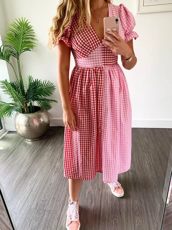 Tilda Dress - Pink & Red molby the label