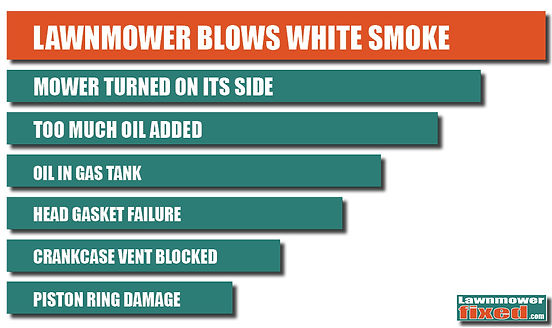 Too Much Oil In Lawn Mower White Smoke