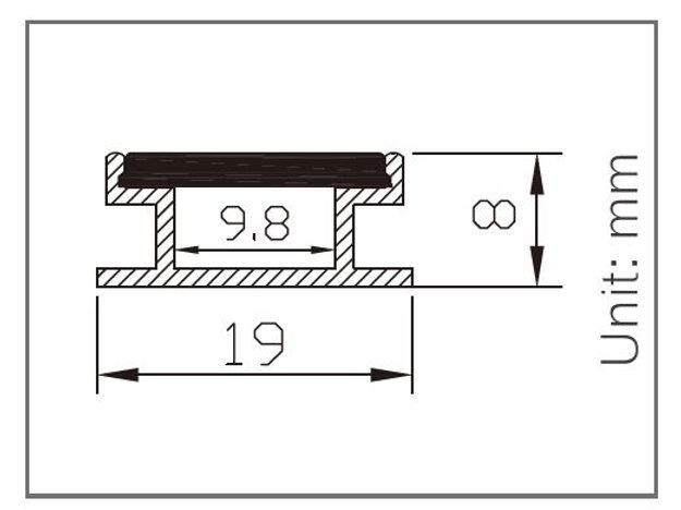8 Ft Flat Cover Channel Aluminum Profile White Color