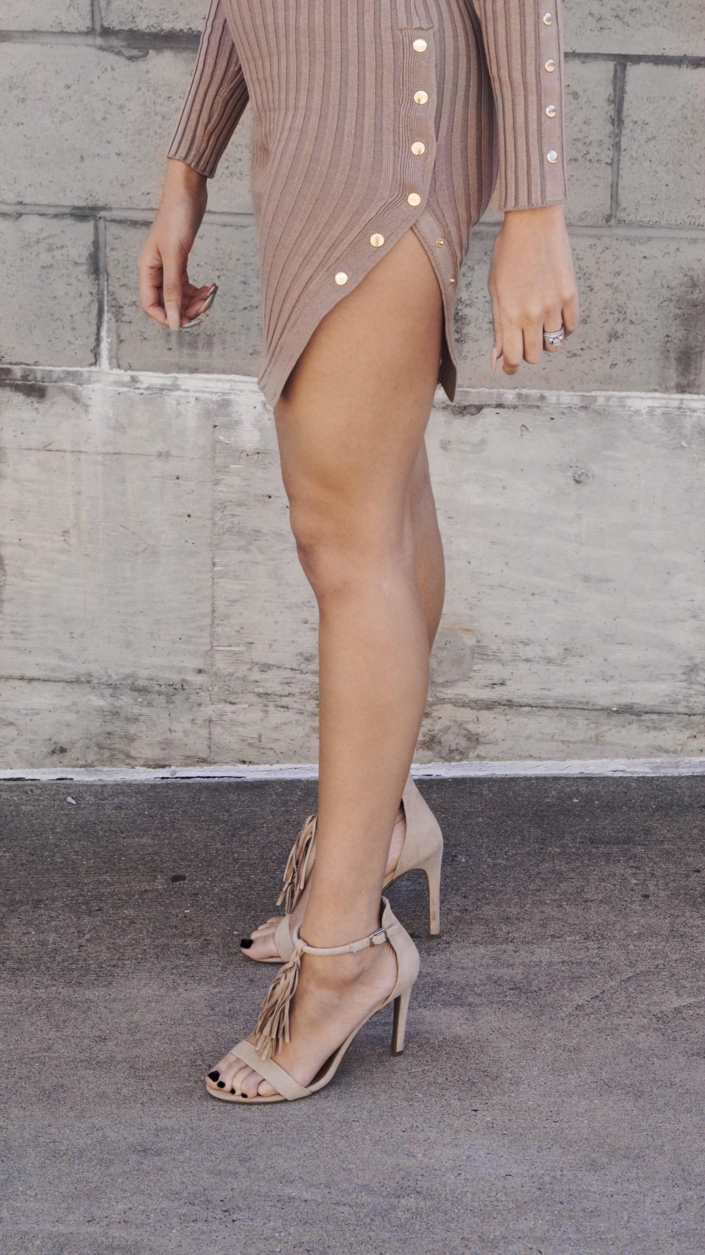 Naked Wardrobe Button Nude Dress Fashion and Style Blog fashionikki.com