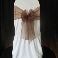 Chair Covers Vaughan Cushion For Office Plus Event Decor Bronze 43organza 43bow