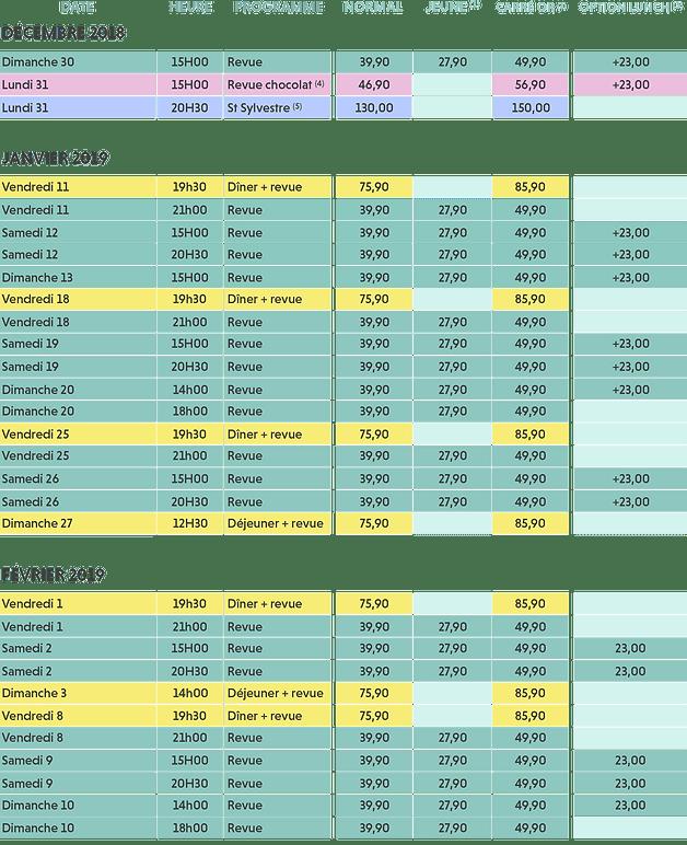 Revue De La Cloche 2019 : revue, cloche, Copie, CALENDRIER, RÉSERVATION, Revue, Cloche