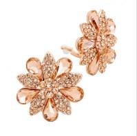 Rose Gold Daisy Clip On Earrings   Clip-on Earrings ...