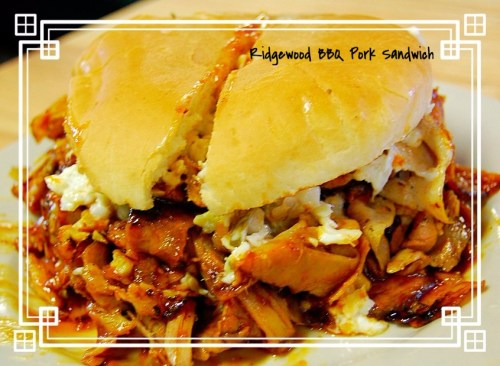ridgewood bbq bluff city tennessee is home sweet home pork bbq sandwich with slaw
