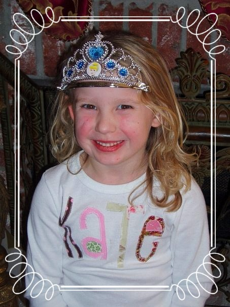 niece princess home sweet home little girl in birthday crown