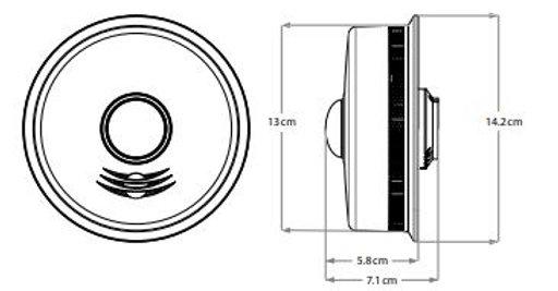 3-in-1 LED Strobe, Talking Smoke and Carbon Monoxide Alarm
