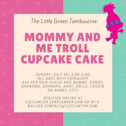 Mommy and Me Troll Cupcake Cake