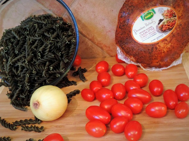 ingredients for Turkey Pasta Salad