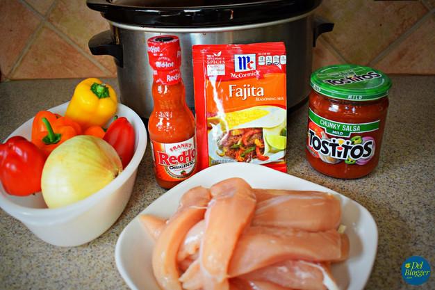 Slow Cooked Chicken Fajitas