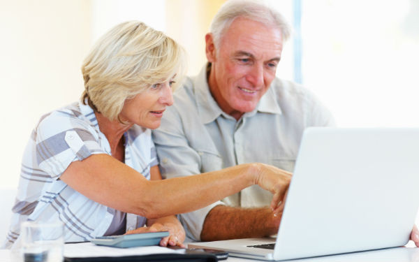 seniors checking their 401K