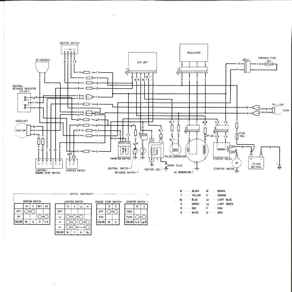 medium resolution of  1984 honda big red atc 200es wiring diagram on honda goldwing wiring diagram