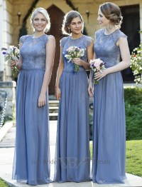 Camilla Dusty Blue Lace Dress - TO37 | Just Bridesmaids ...