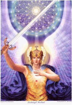 Image result for archangel michael with sword & shield painting