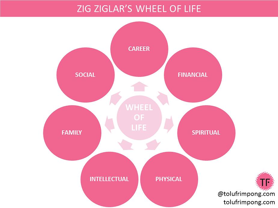 Set SMART Goals 2019 - Zig Ziglar's Wheel of Life