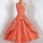 Vintage Tea Length Prom Dresses