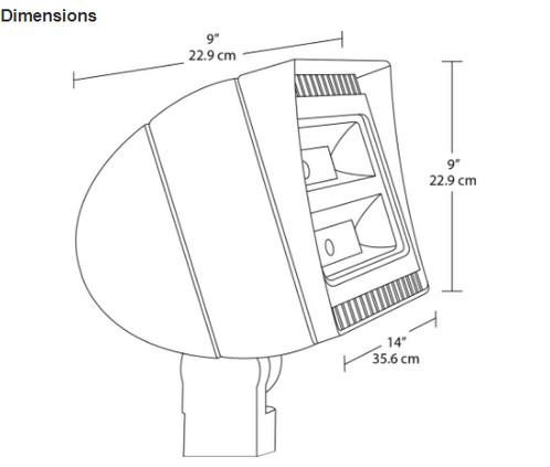 RAB Lighting FXLED150SF Future Flood 150W Cool LED 120V to