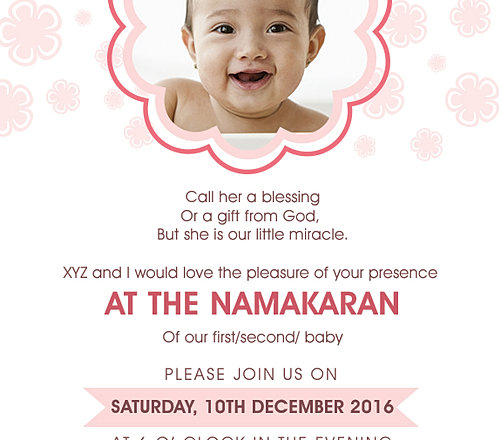 Free Namakaran Invitation Wordings Online