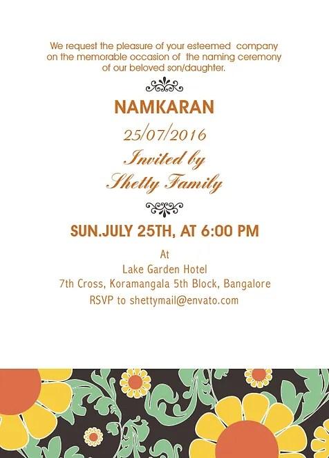 invitation of naming ceremony message bino 9terrains co