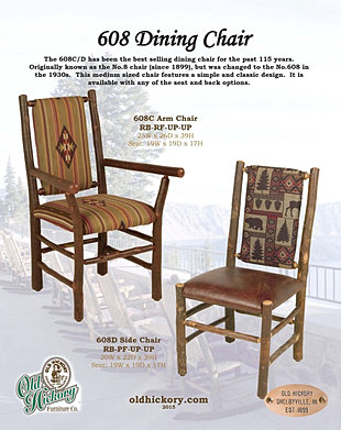 hickory dining room chairs white leather modern office chair old furniture custom rustic