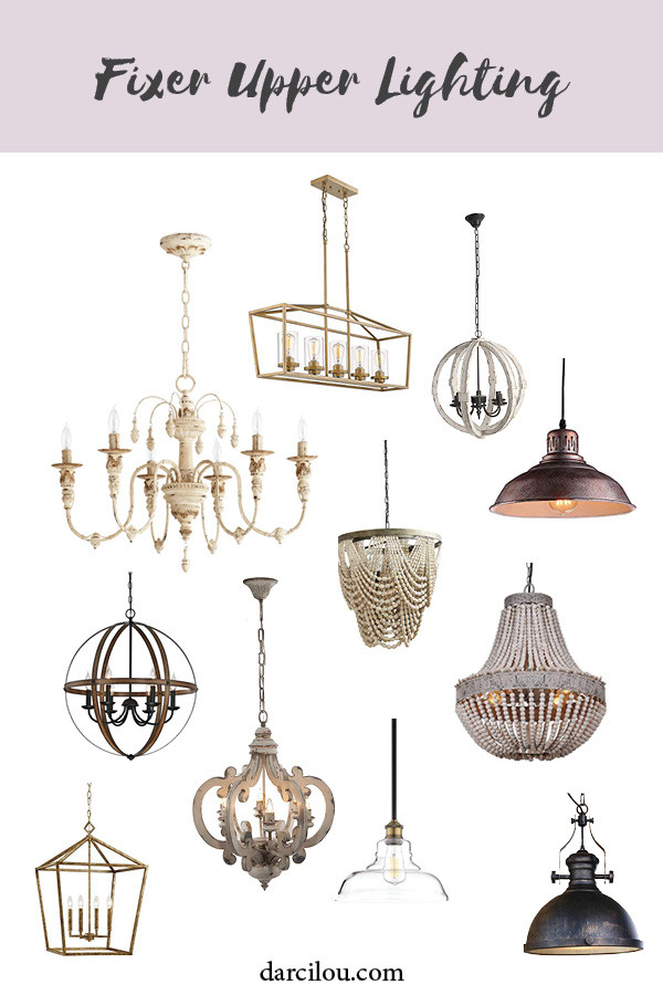 light fixtures for a fixer upper style