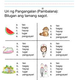 Filipino Worksheet   Printable Worksheets and Activities for Teachers [ 1334 x 1044 Pixel ]
