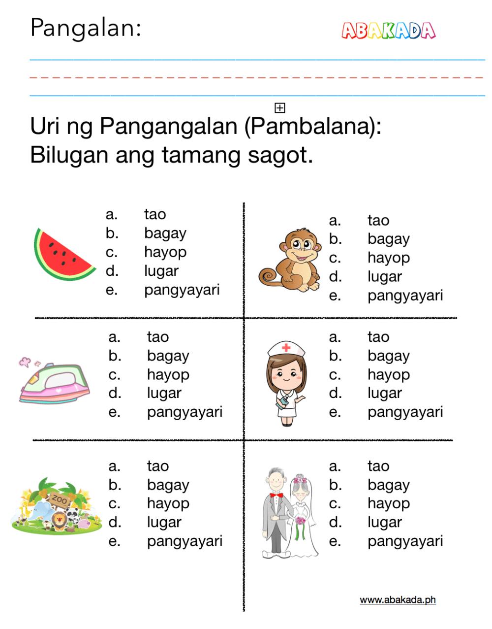 medium resolution of Filipino Worksheet   Printable Worksheets and Activities for Teachers