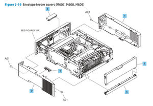 Part Diagrams-M607 M608 M609 HP Laser Printers