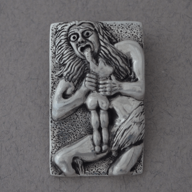 Bespoke Jewellery Saturn Devouring his Son pendant The Wildness Jewellery