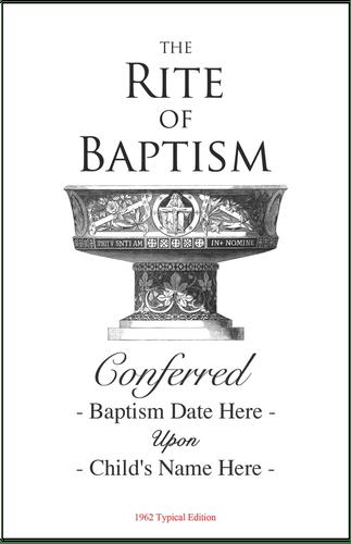 RESOURCE: Traditional Catholic Baptism Program