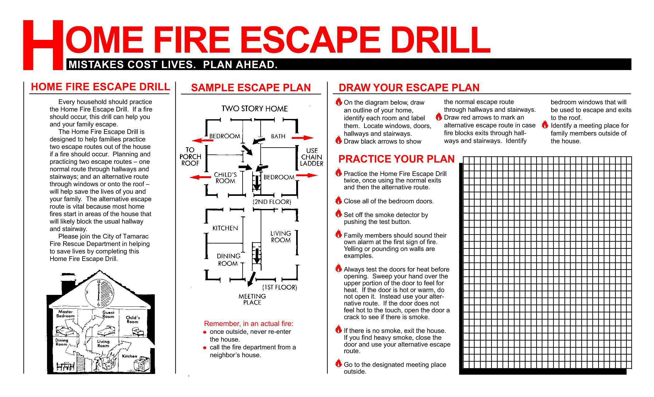 How To Conduct Home Fire Drills And A Printable Drill Template