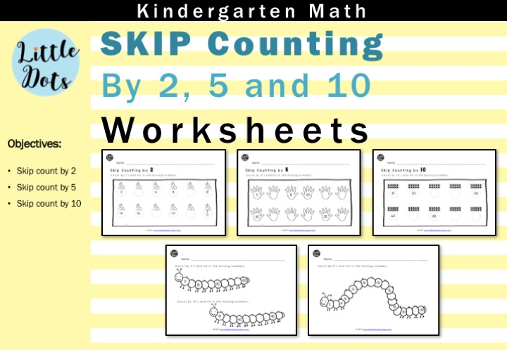 Skip Count By 2 5 And 10 Worksheets For Kindergarten To