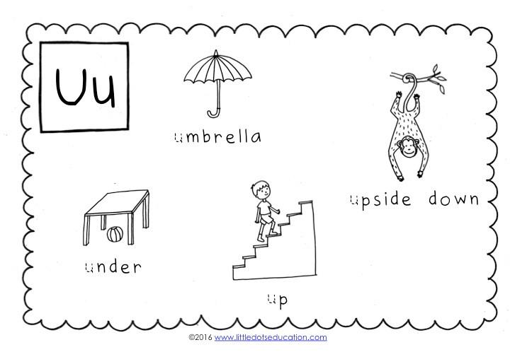 Preschool Letter U Activities and Worksheets