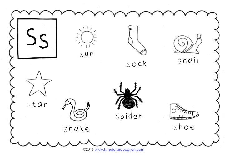 Preschool Letter S Activities and Worksheets