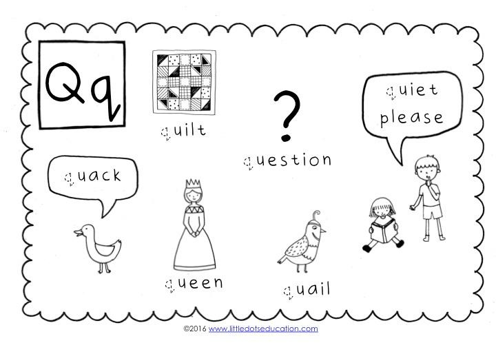 Preschool Letter Q Activities and Worksheets