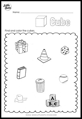Kindergarten Math 3D Shapes Worksheets and Activities